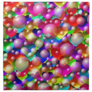 Hearts & Bubbles Napkin