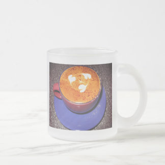 Hearts Cappuccino Love Heart Get Well Miss You Frosted Glass Mug