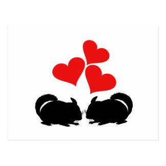 Hearts & Chinchillas Postcard