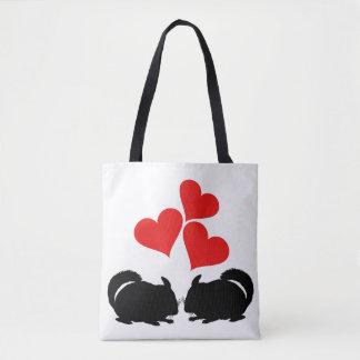 Hearts & Chinchillas Tote Bag