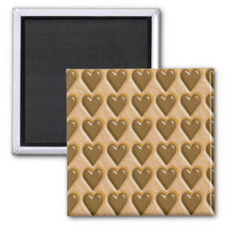 Hearts - Chocolate Peanut Butter Magnet