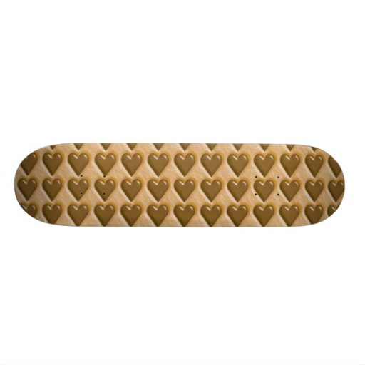 Hearts - Chocolate Peanut Butter Skateboards