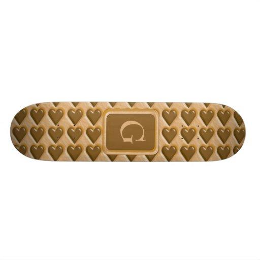 Hearts - Chocolate Peanut Butter Skateboard Decks