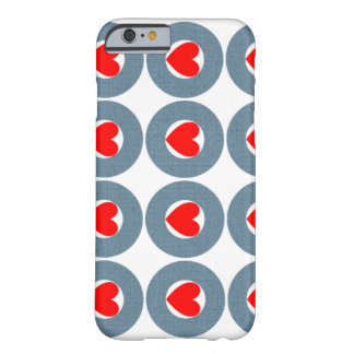 Hearts Circles Barely There iPhone 6 Case