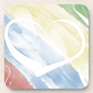 hearts & colors drink coaster