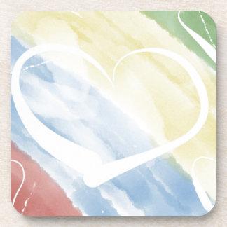 hearts & colors drink coaster