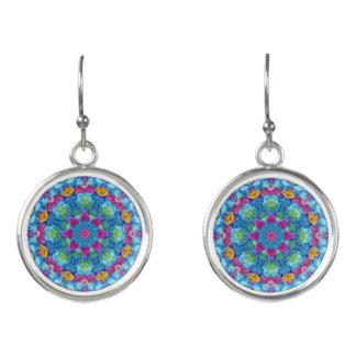 Hearts Colourful Drop Earrings