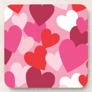 Hearts Drink Coasters