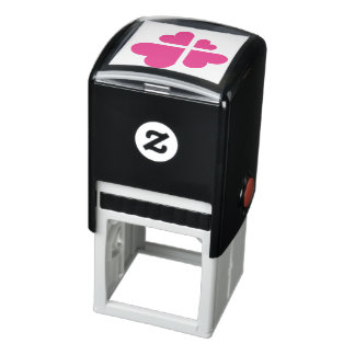 Hearts Cross Self-inking Stamp