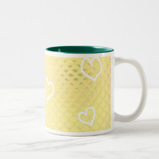 Hearts ~ customizable Two-Tone coffee mug