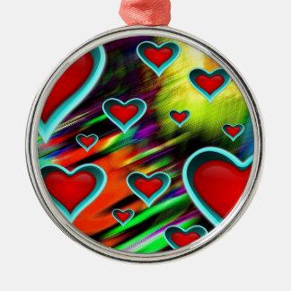 Hearts Christmas Ornament