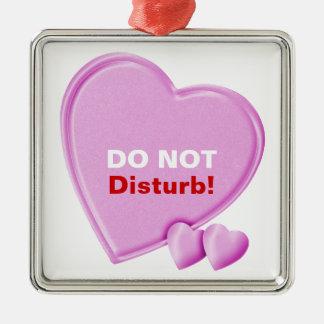 Hearts Do Not Disturb Door Hanger Ornament