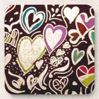 Hearts Drink Coaster