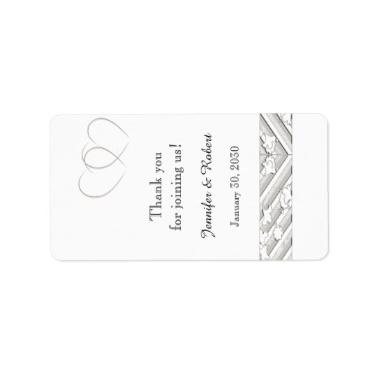 Hearts Entwined Floral Border Lip Balm Label