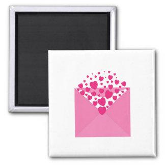 Hearts envelope clipart fridge magnet