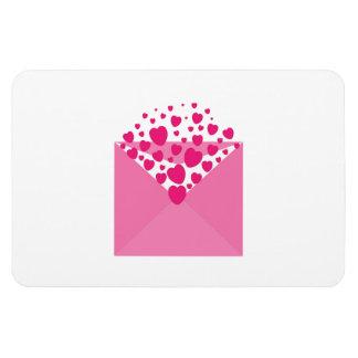 Hearts envelope clipart rectangle magnet