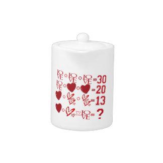 hearts equation valentine's day design