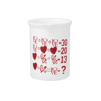 hearts equation valentine's day design pitcher