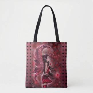 Hearts Fantasy Fairy Art by Molly Harrison Tote Bag