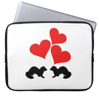 Hearts & Ferrets Laptop Sleeve