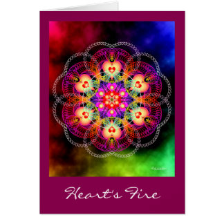 Heart's Fire Greeting Card