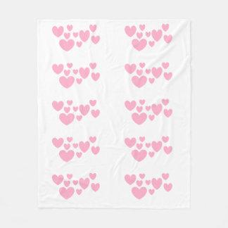 Hearts Fleece Blanket by DAL