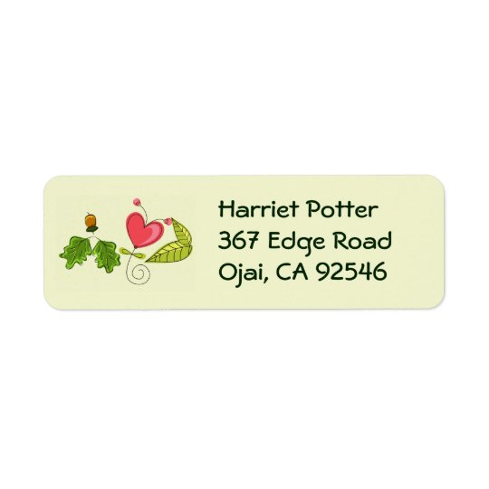 Hearts Flowers Cool Cute Girly Retro Floral Return Address Label