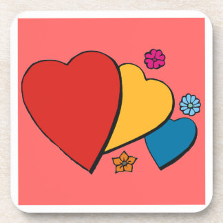Hearts & Flowers - Drink Coaster