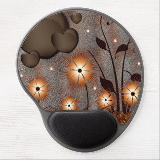 Hearts Flowers Gel Mousepads