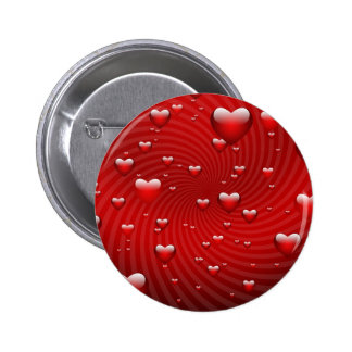 Hearts for the St. Valentine's day - Button