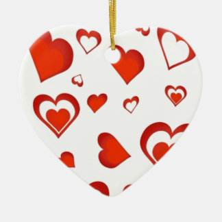 Hearts for Valentine - Ceramic Heart Decoration