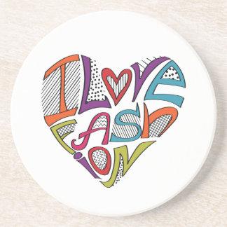 Hearts from words I love fashion Coasters
