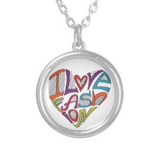 Hearts from words I love fashion Pendant