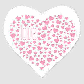 Hearts Full of Hearts Love Pink Heart Sticker