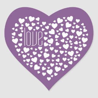 Hearts Full of Hearts Love White Heart Sticker