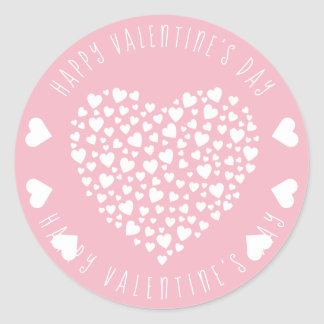 Hearts Full of Hearts Valentine's Day Classic Round Sticker