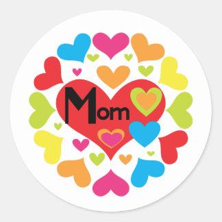 Hearts Galore Mum T-shirts and Gifts Classic Round Sticker
