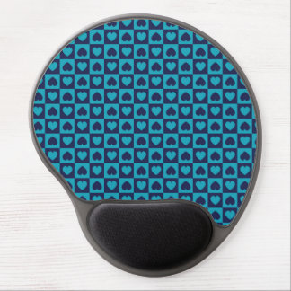 Hearts Galore Navy and Turquoise Gel Mousepad