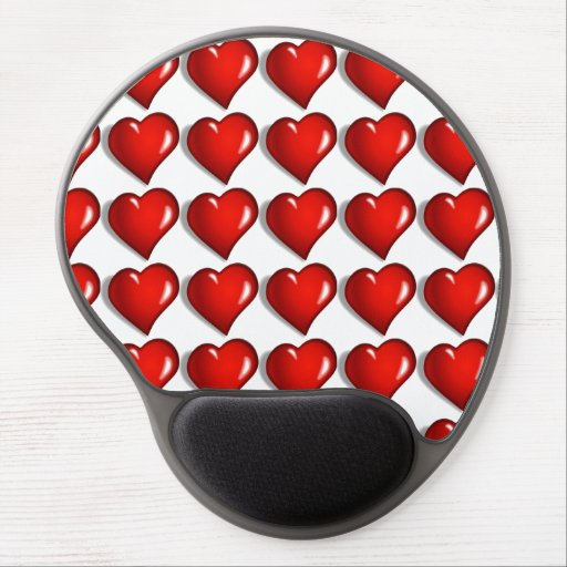 Hearts Gel Mouse Mat