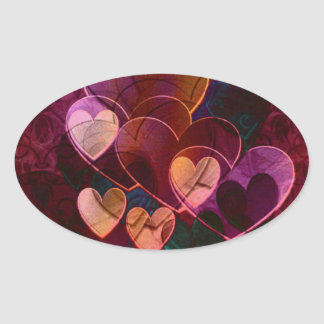 Hearts Gifts | Burgundy Oval Sticker