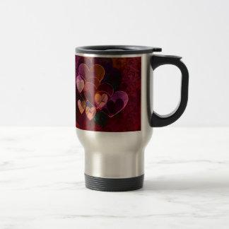 Hearts Gifts | Burgundy Stainless Steel Travel Mug