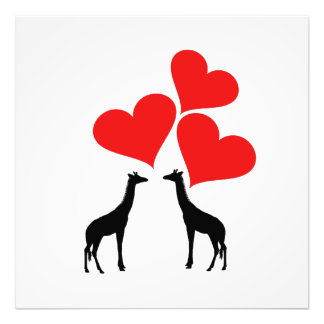 Hearts & Giraffes Photo Print