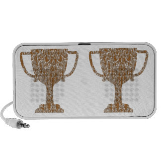 Hearts Gold Silver Engraved PC Speakers