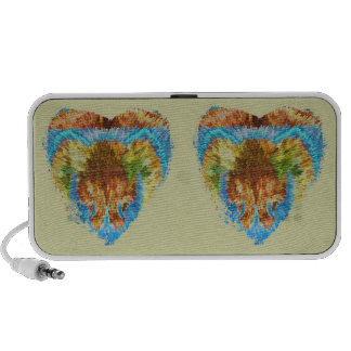 Hearts Gold Silver Engraved Laptop Speakers