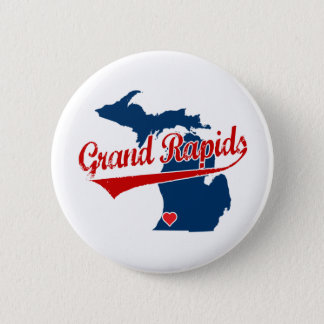 Hearts Grand Rapids Michigan 6 Cm Round Badge