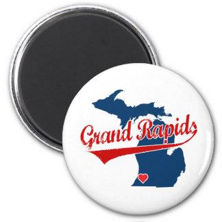 Hearts Grand Rapids Michigan 6 Cm Round Magnet