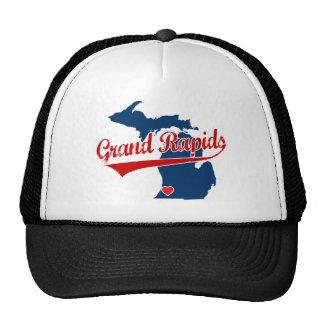 Hearts Grand Rapids Michigan Cap