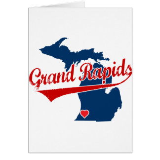 Hearts Grand Rapids Michigan Greeting Card