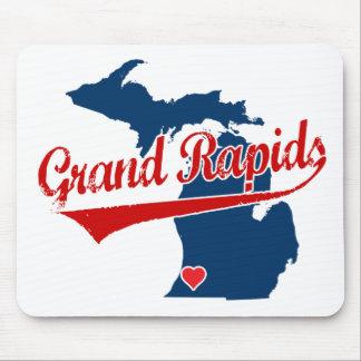Hearts Grand Rapids Michigan Mouse Pad