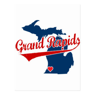 Hearts Grand Rapids Michigan Postcard
